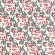 Moda Winterberry by Kate & Birdie - 3922 - Peace on Earth on Beige - 13141 11 - Cotton Fabric